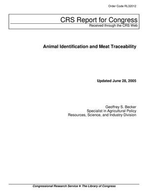 Primary view of object titled 'Animal Identification and Meat Traceability'.