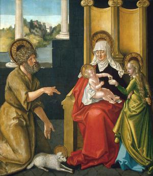 Primary view of Saint Anne with the Christ Child, the Virgin, and Saint John the Baptist