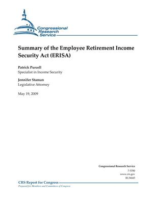 Primary view of object titled 'Summary of the Employee Retirement Income Security Act (ERISA)'.