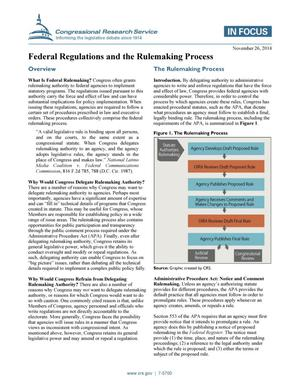 Primary view of object titled 'Federal Regulations and the Rulemaking Process'.