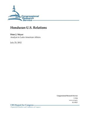 Primary view of object titled 'Honduran-U.S. Relations'.