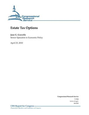 Primary view of object titled 'Estate Tax Options'.