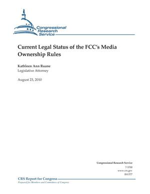 Primary view of object titled 'Current Legal Status of the FCC's Media Ownership Rules'.