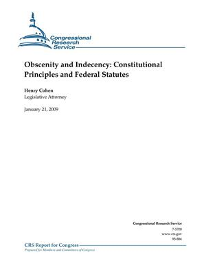 Primary view of object titled 'Obscenity and Indecency: Constitutional Principles and Federal Statutes'.