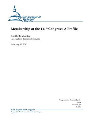 Primary view of object titled 'Membership of the 111th Congress: A Profile'.