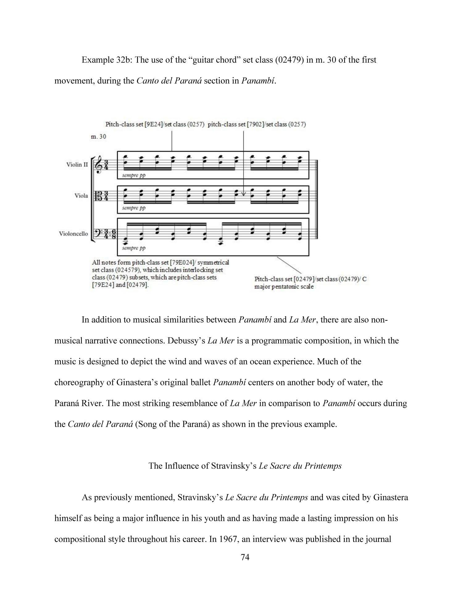 The Musical Language Of Alberto Ginasteras Panamb And The