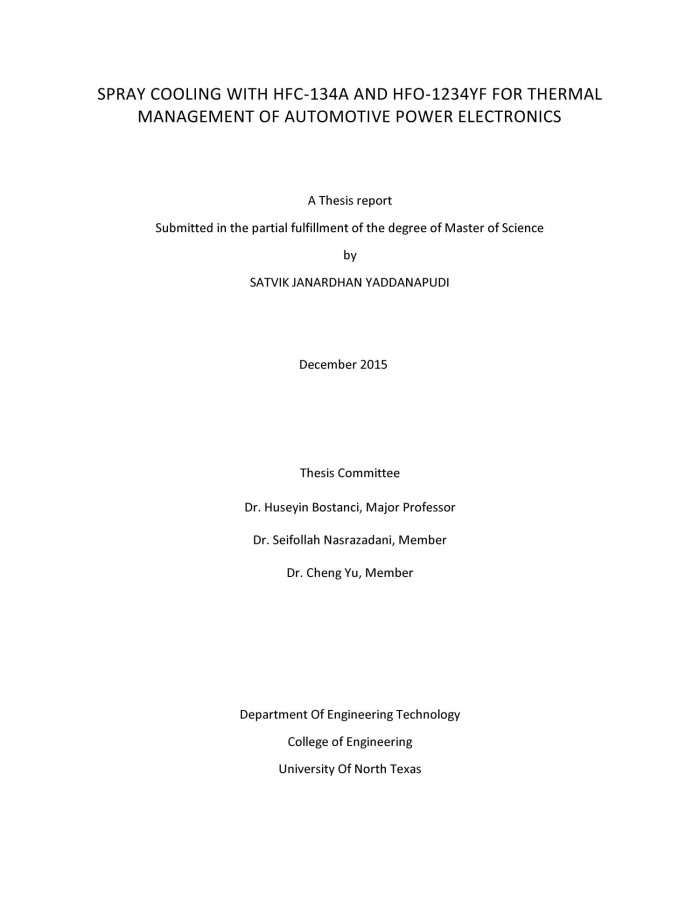 Automotive master thesis
