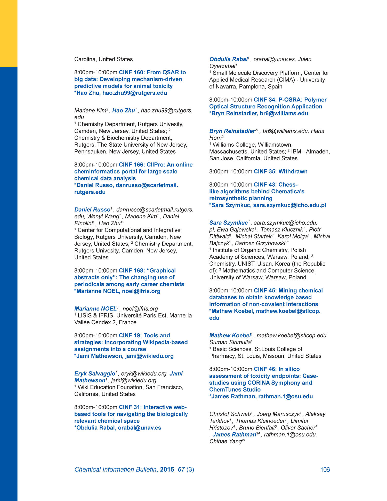 Chemical Information Bulletin, Volume 67, Number 3, Fall