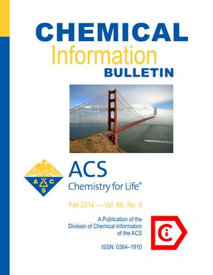 Primary view of object titled 'Chemical Information Bulletin, Volume 66, Number 3, Fall 2014'.