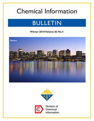 Primary view of object titled 'Chemical Information Bulletin, Volume 62, Number 4, Winter 2010'.