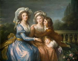 Primary view of Marquise de Pezé and the Marquise de Rouget with Her Two Children