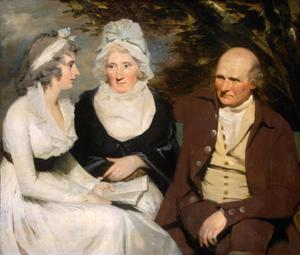 Primary view of John Johnstone, Betty Johnstone, and Miss Wedderburn