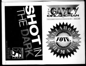 Primary view of object titled 'The Gayly Oklahoman (Oklahoma City, Okla.), Vol. 10, No. 5, Ed. 1 Sunday, March 1, 1992'.