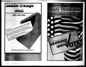 Primary view of object titled 'The Gayly Oklahoman (Oklahoma City, Okla.), Vol. 2, No. 11, Ed. 1 Thursday, November 1, 1984'.