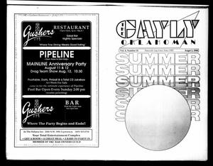Primary view of object titled 'The Gayly Oklahoman (Oklahoma City, Okla.), Vol. 8, No. 10, Ed. 1 Wednesday, August 1, 1990'.
