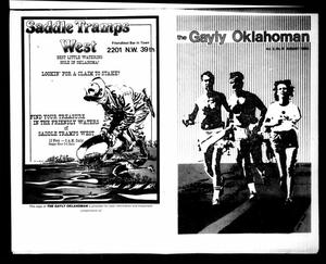 Primary view of object titled 'The Gayly Oklahoman (Oklahoma City, Okla.), Vol. 2, No. 8, Ed. 1 Wednesday, August 1, 1984'.