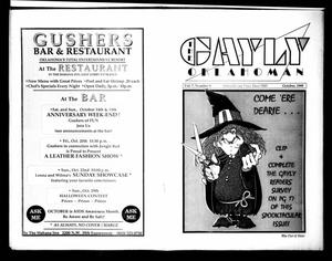 Primary view of object titled 'The Gayly Oklahoman (Oklahoma City, Okla.), Vol. 7, No. 10, Ed. 1 Sunday, October 1, 1989'.
