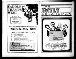 Primary view of object titled 'The Gayly Oklahoman (Oklahoma City, Okla.), Vol. 5, No. 5, Ed. 1 Friday, May 1, 1987'.