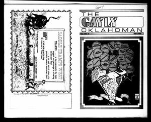 Primary view of object titled 'The Gayly Oklahoman (Oklahoma City, Okla.), Vol. 4, No. 5, Ed. 1 Thursday, May 1, 1986'.