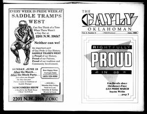 Primary view of object titled 'The Gayly Oklahoman (Oklahoma City, Okla.), Vol. 6, No. 6, Ed. 1 Wednesday, June 1, 1988'.