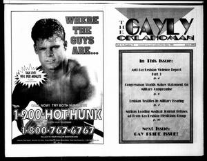Primary view of object titled 'The Gayly Oklahoman (Oklahoma City, Okla.), Vol. 11, No. 11, Ed. 1 Tuesday, June 1, 1993'.