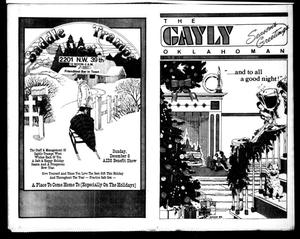 Primary view of object titled 'The Gayly Oklahoman (Oklahoma City, Okla.), Vol. 3, No. 12, Ed. 1 Sunday, December 1, 1985'.
