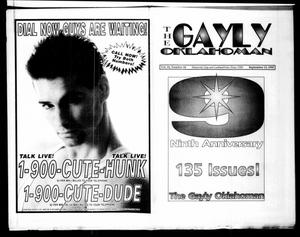Primary view of object titled 'The Gayly Oklahoman (Oklahoma City, Okla.), Vol. 10, No. 18, Ed. 1 Tuesday, September 15, 1992'.