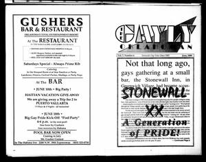 Primary view of object titled 'The Gayly Oklahoman (Oklahoma City, Okla.), Vol. 7, No. 6, Ed. 1 Thursday, June 1, 1989'.