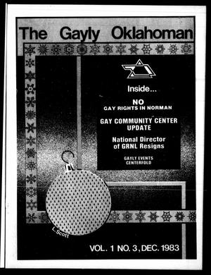 Primary view of object titled 'The Gayly Oklahoman (Oklahoma City, Okla.), Vol. 1, No. 3, Ed. 1 Thursday, December 1, 1983'.
