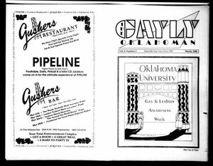 Primary view of object titled 'The Gayly Oklahoman (Oklahoma City, Okla.), Vol. 8, No. 3, Ed. 1 Thursday, March 1, 1990'.