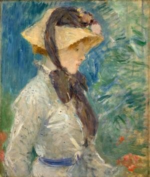 Youn Woman with a Straw Hat