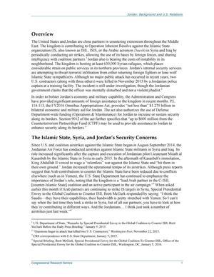 Jordan: Background and U.S. Relations