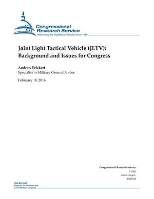 Primary view of object titled 'Joint Light Tactical Vehicle (JLTV): Background and Issues for Congress'.