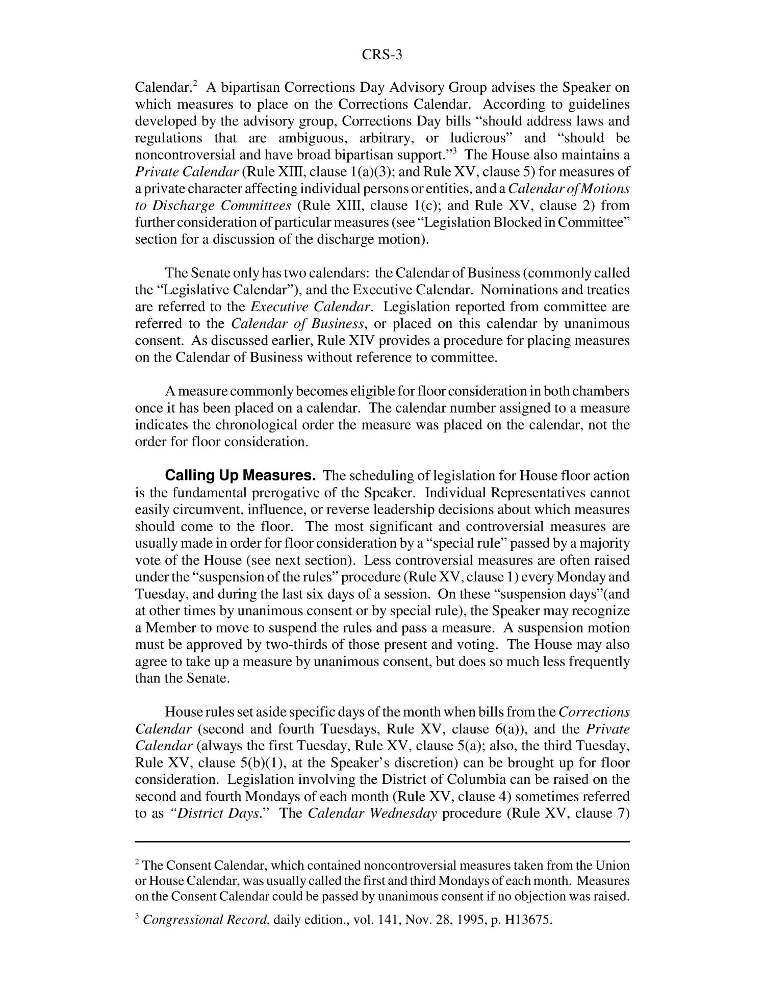 House And Senate Rules Of Procedure A Comparison Page 6 Of 16