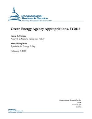 Primary view of object titled 'Ocean Energy Agency Appropriations, FY2016'.