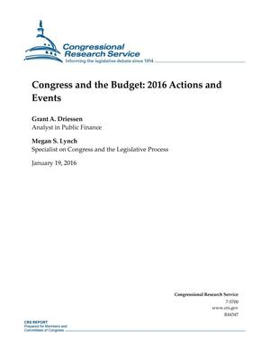 Primary view of object titled 'Congress and the Budget: 2016 Actions and Events'.