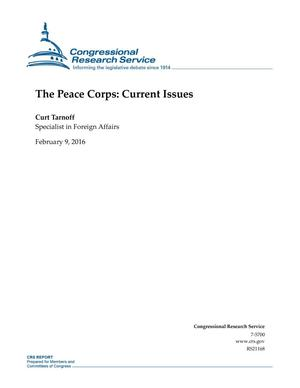 Primary view of object titled 'The Peace Corps: Current Issues'.