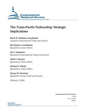 Primary view of object titled 'The Trans-Pacific Partnership: Strategic Implications'.
