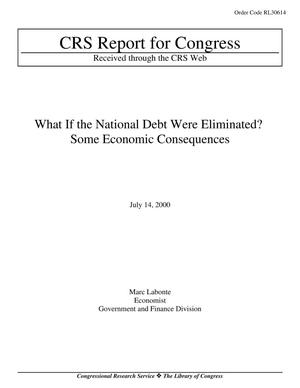 Primary view of object titled 'What If the National Debt Were Eliminated? Some Economic Consequences'.