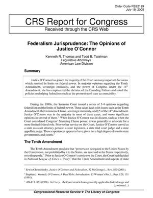 Primary view of object titled 'Federalism Jurisprudence: The Opinions of Justice O'Connor'.