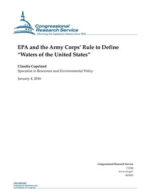 "Primary view of object titled 'EPA and the Army Corps' Rule to Define ""Waters of the United States""'."