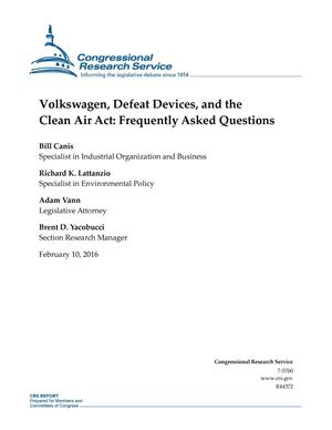 Primary view of object titled 'Volkswagen, Defeat Devices, and the Clean Air Act: Frequently Asked Questions'.