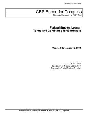 Primary view of object titled 'Federal Student Loans: Terms and Conditions for Borrowers'.