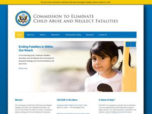 Primary view of object titled 'Commission to Eliminate Child Abuse and Neglect Fatalities'.