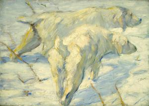 Primary view of object titled 'Siberian Dogs in the Snow'.