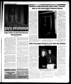 Primary view of object titled 'The Gayly Oklahoman (Oklahoma City, Okla.), Vol. 19, No. 8, Ed. 1 Sunday, April 15, 2001'.