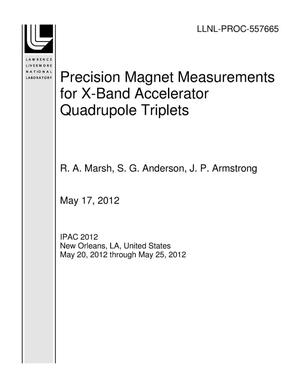 Primary view of object titled 'Precision Magnet Measurements for X-Band Accelerator Quadrupole Triplets'.
