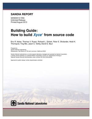 Primary view of object titled 'Building guide : how to build Xyce from source code.'.