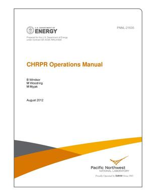 Primary view of object titled 'CHRPR Operations Manual'.