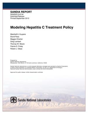 Primary view of object titled 'Modeling Hepatitis C treatment policy.'.